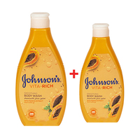 Johnson Vita-Rich Smooth Body Wash 400ML + 250ML Free