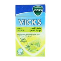 Vicks Lime & Sage Soothing & Refreshing Throat Drops 40g