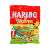 Haribo Worms Gummy Candy 80g