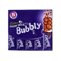 Cadbury Dairy Milk Bubbly Chocolate 28g x Pack of 5