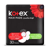Kotex Designer Pads Super + Wings Pack of 30