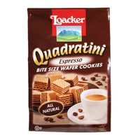 Loacker Quadratini Espresso Wafer Cookies 220g