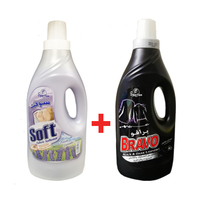Bravo Washing Liquid Detergent 2L + Soft 2L Free