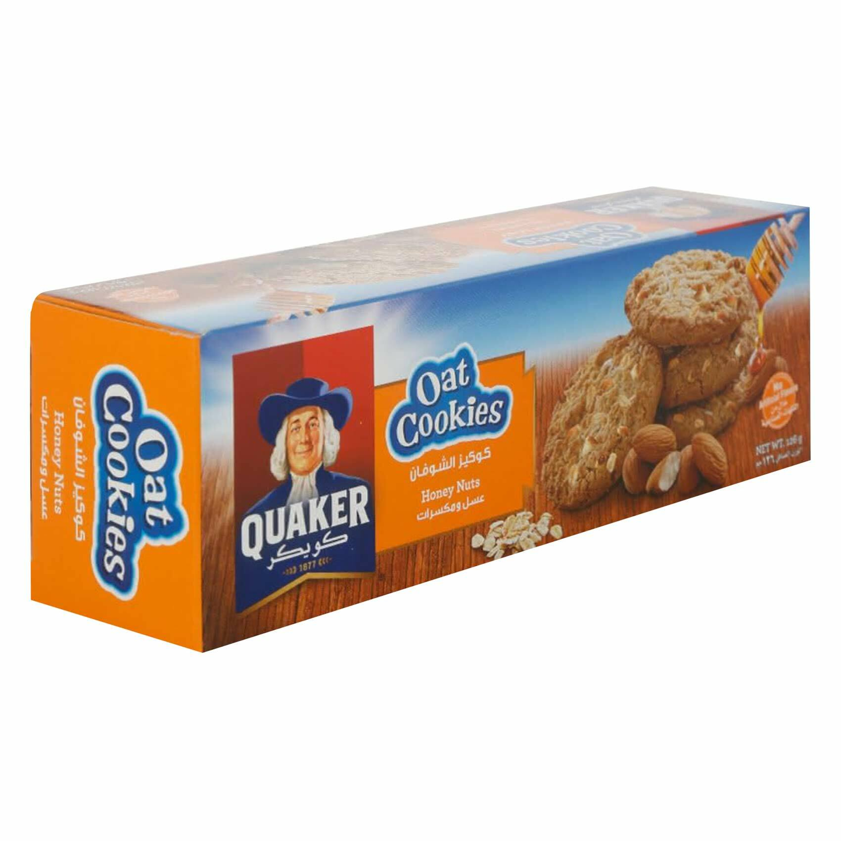 Buy Quaker Honey Nuts Oats Cookies 126g Online Shop Food Cupboard On Carrefour Uae