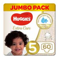 Huggies extra care size 5 jumbo pack 12-22 Kg 60 diapers