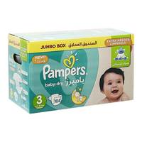 Pampers 3 jumbox 3-9 Kg medium x 104 diapers
