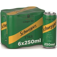 Schweppes Ginger Ale Can 250mlx6