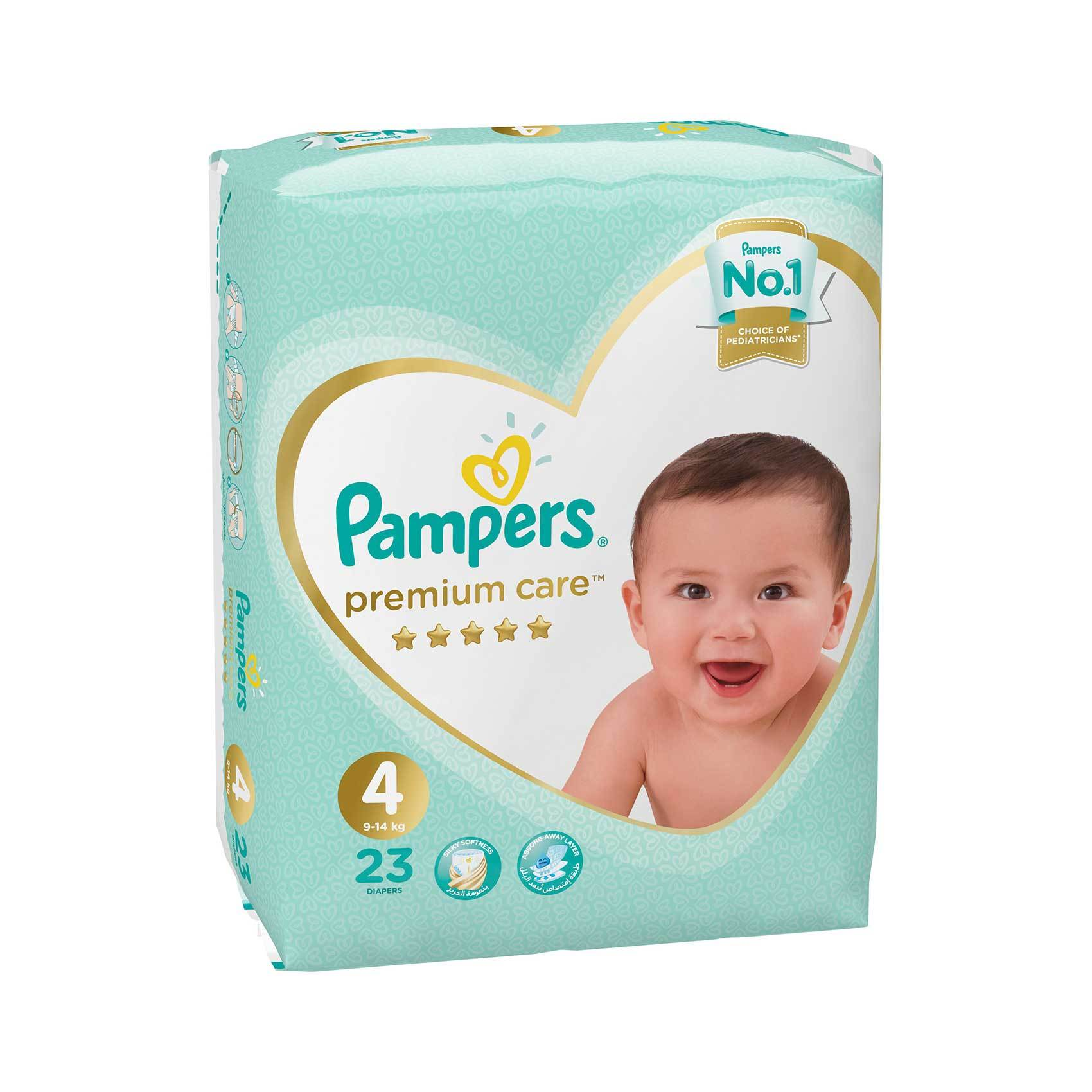 Buy Pampers Premium Care Diapers Size 4 Maxi Carry Pack X 23 Diapers Online Shop Baby Products On Carrefour Saudi Arabia