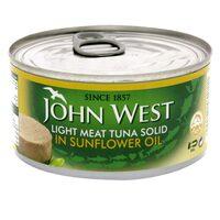 John West Light Meat Tuna Solid In Sunflower Oil 170g