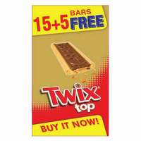 Twix Top Chocolate 21g x Pack of 20