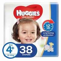 Huggies Superflex Economy Diapers Size 4+ 38 Count x2