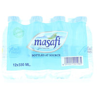 Masafi Bottled at Source Drinking Water 330ml x Pack of 12