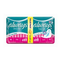 Always Ladies Pads Thin Long Value Pack 16 Pads