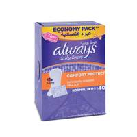 Always pantyliners comfort protect wrap natural 40 pieces
