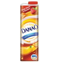 Danao Juice Drink with Milk Orange-Banana & Strawberry 1L