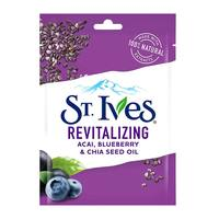 St.ives face mask revitalizing blueberry & chia seed oil 1 sheet mask
