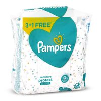 Pampers sensitive protect baby wipes 56 x 3 +1 free
