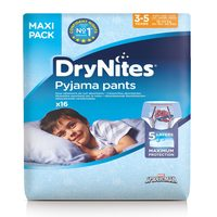 Huggies Drynites Pyjama Bed Wetting Pants 3-5 Years 16 Count 16-23 kg