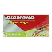 Diamond Zipper Sandwich Bags 100 Pieces