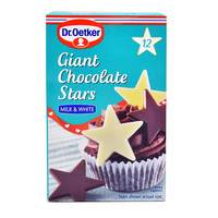 Dr.Oetker Milk and White giant Chocolate Stars 20g