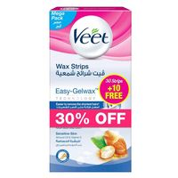 Veet Sensitive Skin Hair Removal Cold Wax Strips Pack Of 40