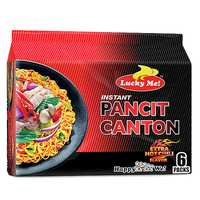 Lucky Me Hot Chili And Citrus Instant Pancit Canton Noodles 60g x Pack of 6