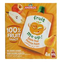 Andros Fruit me Up Apple Pear Juice 90g x Pack of 4