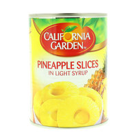 California Garden Canned Pineapple Slices In Light Syrup 565g