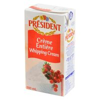 President 35.1% Fat UHT Whipping Cream 500ml