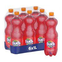 Fanta strawberry 1 L x 6