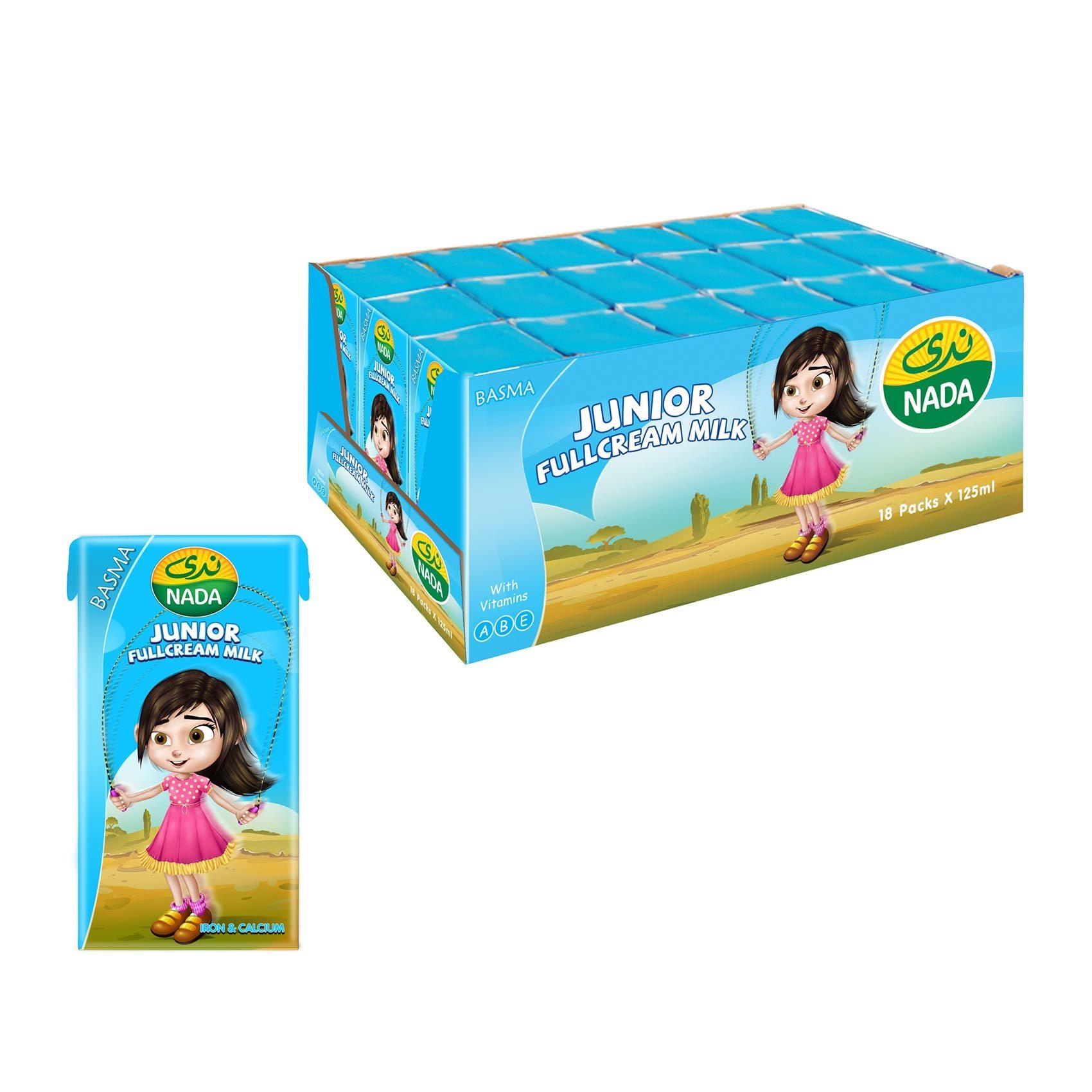 Buy Nada Long Life Full Fat Milk 125 Ml X 18 Pieces Online Shop Fresh Food On Carrefour Saudi Arabia