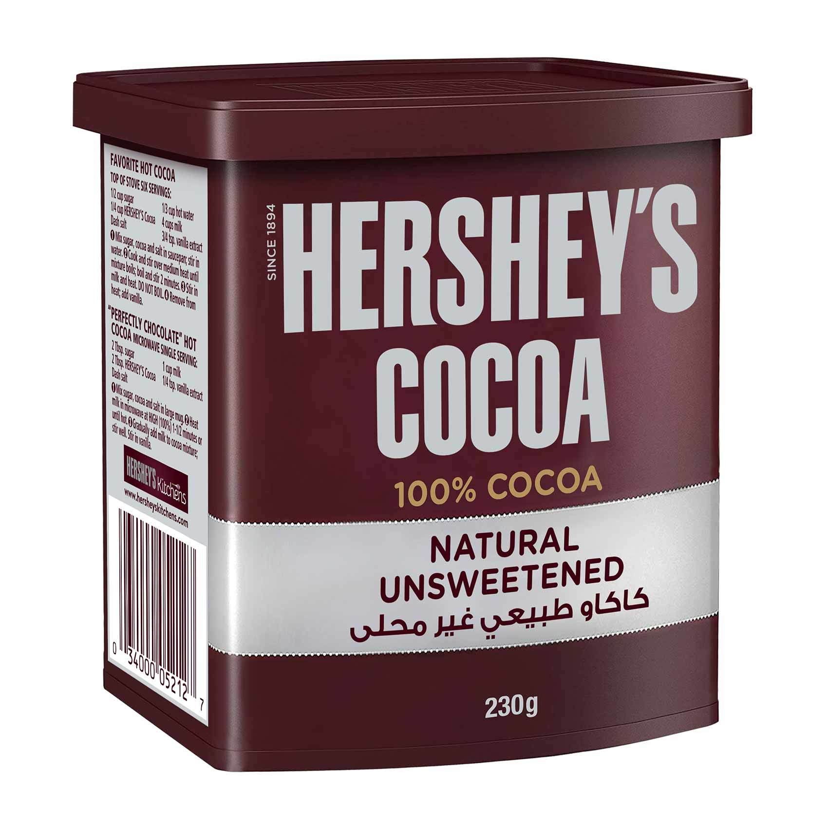 Buy Hershey S Cocoa Powder Natural Unsweetened 230 G Online Shop Food Cupboard On Carrefour Saudi Arabia