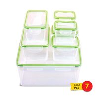 Food lock container 7 pieces +7 pieces lid