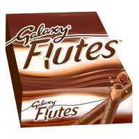 Galaxy Flutes Twin Fingers Chocolate 22.5g x Pack of 24