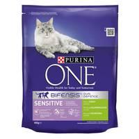 Purina One Sensitive Cat Turkey and Rice 800g