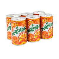 Mirinda Soft Drink Can 185ML X6
