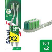 Signal Toothbrush Bamboo Salt Extra Soft x2