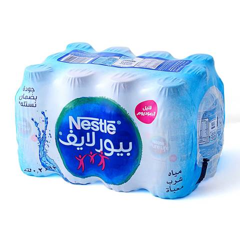 Buy Nestle Water 200 Ml Times 12 Pieces Online Shop Beverages On Carrefour Saudi Arabia