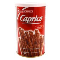 Papadopoulos Caprice Classic Greek Chocolate Wafer Roll 250g
