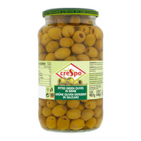 Crespo Pitted Green Olives in Brine 907g
