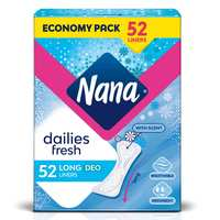 Nana Daily Fresh Liners Long Economy Pack 52 Pads