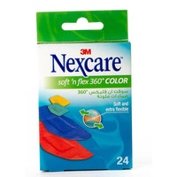 Nexcare Soft N' Flex 360° Color Bandages  Pack of 24