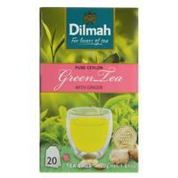 Dilmah Greean Tea with Ginger 20 Tea Bags
