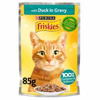 Purina Friskies Duck Chunks in Gravy Wet Cat Food Pouch 85g