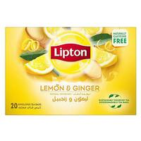 Lipton Lemon And Ginger Herbal Infusion Tea 2g x Pack of 20