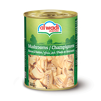Alwadi Al Akhdar Mushrooms Pieces & Stems 400GR
