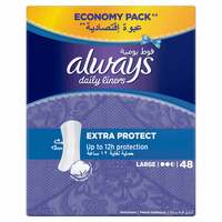 Always Extra Protect Pantyliners 48 Count