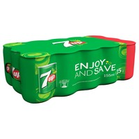 7UP Carbonated Soft Drink Mini Cans 155mlx15
