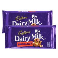 Cadbury Dairy Milk Fruit and Nut Chocolate 230g x Pack of 2