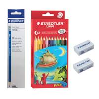 Steadtler Norris 24Pencil+ 12Color Pencil + Eraser